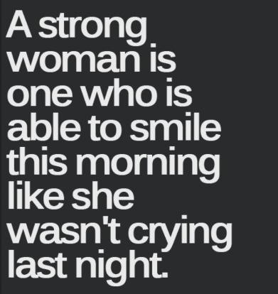 a strong woman this is NOT